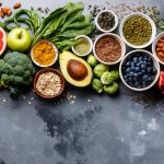 Assorted fruits, vegetables, and spices